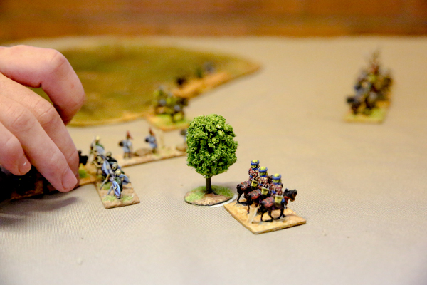 close up of historical war model game