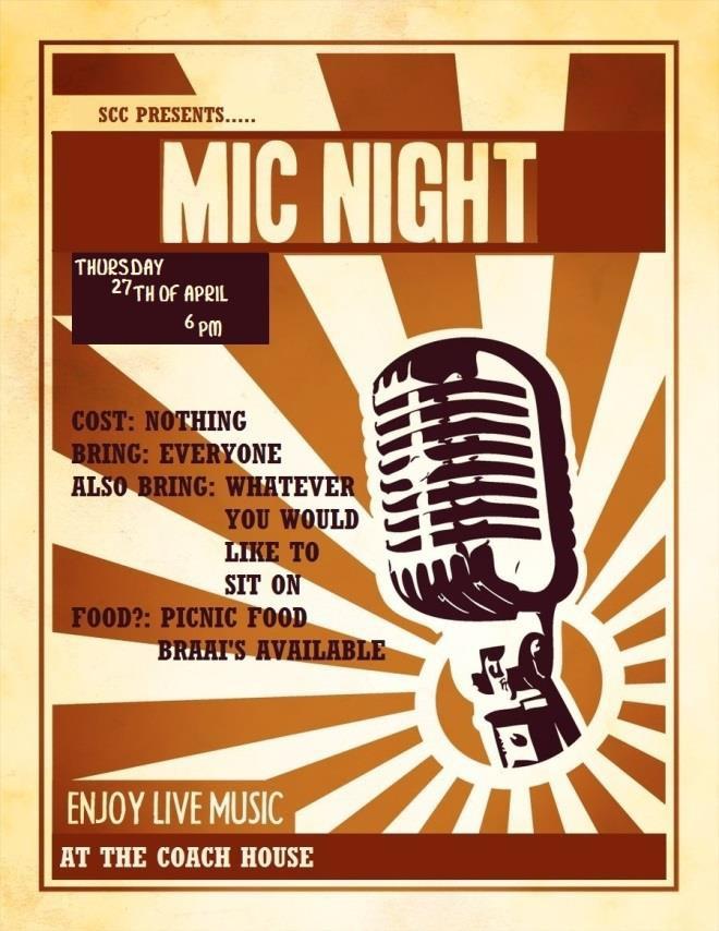 mic night poster