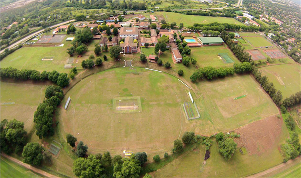 St Charles College Cricket Field From The Air