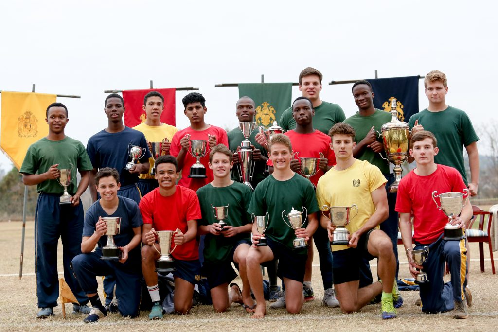 inter-house athletics day winners at St Charles College