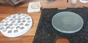 telescope mirror ground down to 1200 grit